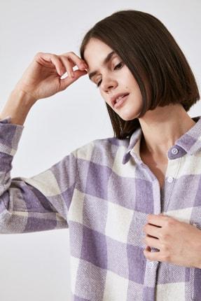 TRENDYOLMİLLA Lila Cep Detaylı Gömlek TWOAW21GO0321 3