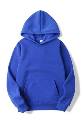 ELBİSENN Kadın Lacivert Kanguru Cepli Kapşonlu Sweatshirt 0