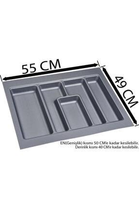 Arwino Çekmece Içi Gri Kepçelik 55x49 Cm 1