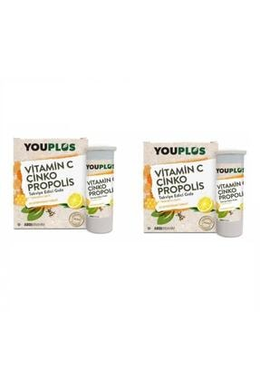 Youplus You Plus Vitamin C Çinko Propolis 20 Efervesan Tablet 2 Paket Skt:06/22 0
