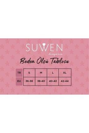 Suwen Kadın Mor Baskılı Crystal Maskulen Pijama Takımı 3