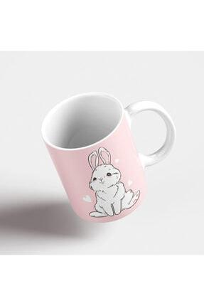 ONLY MUGS Şaşkın Tavşan Kupa   Tavşanlı Kupa   Kupa Bardak   Hediyelik Kupa   Seramik Kupa 1