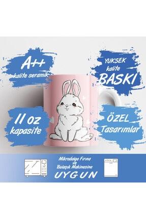 ONLY MUGS Şaşkın Tavşan Kupa   Tavşanlı Kupa   Kupa Bardak   Hediyelik Kupa   Seramik Kupa 3