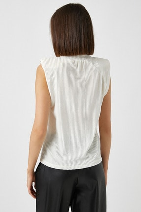 Koton Kadın Ekru T-Shirt 1KAK13461EK 3