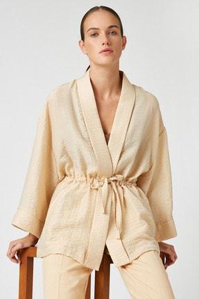 Koton Kadın Ekru Kimono&Kaftan 0YAK52508UW 2