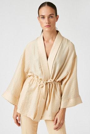 Koton Kadın Ekru Kimono&Kaftan 0YAK52508UW 3