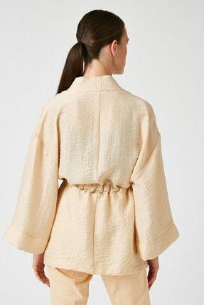 Koton Kadın Ekru Kimono&Kaftan 0YAK52508UW 4