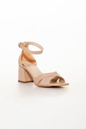 Dilimler Ayakkabı Nude Kadın Topuklu Sandalet 2
