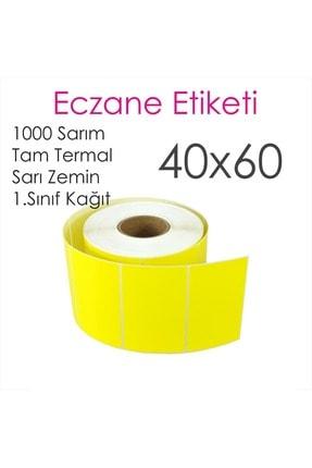 Elit Barkod Etiketi 40x60 Termal Sarı 1000 Li (eczane Ilaç Tarif Etiketi) 3