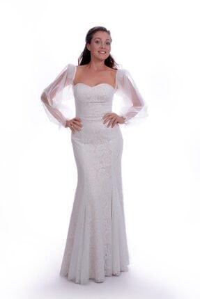 Kadın Beyaz Nikah Elbisesi NE1002