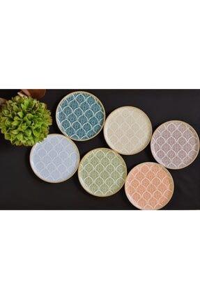 Porland Aicha 6 Parça 6 Kişilik Porselen Pasta Servis Takımı 0