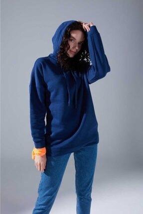 Mizalle Youth Kadın Indigo Oversize Sweatshirt 1