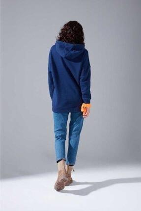 Mizalle Youth Kadın Indigo Oversize Sweatshirt 3