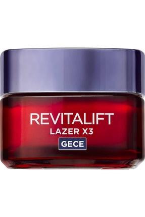 L'Oreal Paris Revitalift Lazer X3 Yoğun Yaşlanma Karşıtı Gece Bakım Kremi 50 ml 0