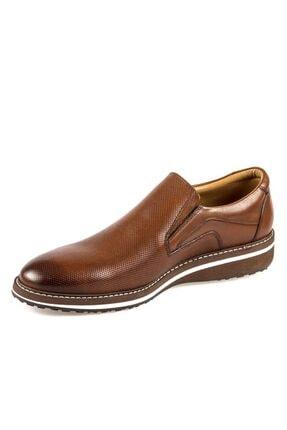 Fosco Erkek Taba Bağcıksız  Hakiki Deri Günlük Ayakkabı 8566 45 2