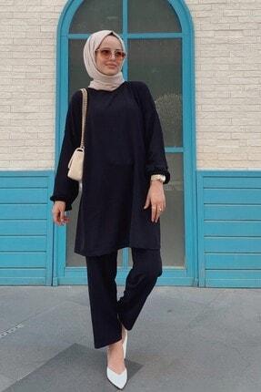 QASHA STORE Kadın Siyah Takım 2