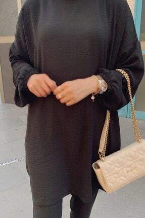 QASHA STORE Kadın Siyah Takım 3
