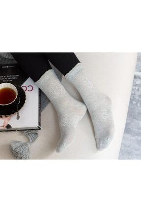تصویر از Bord Kadın Soket Çorap - Gri