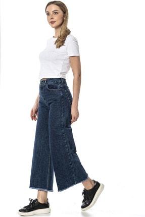 lkjns Kadın  Koyu Mavi Bol Paca Denim Pantolon L3pade110145d28 1