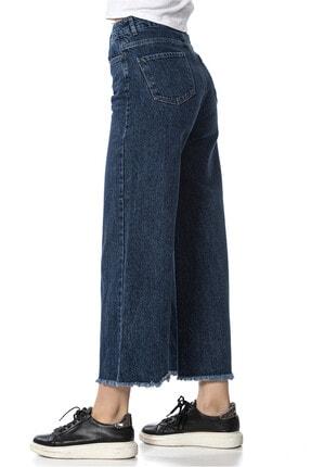 lkjns Kadın  Koyu Mavi Bol Paca Denim Pantolon L3pade110145d28 3