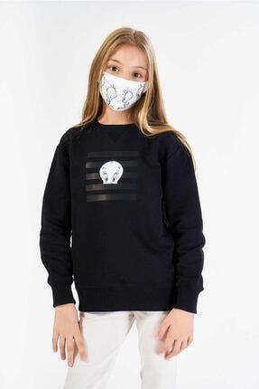 FINGER PRINT Kız Çocuk Siyah Lisanslı Tweety Baskılı Sweatshirt 0