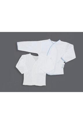 Melish Bebe Erkek Mavi Şeritli Ikili Zıbın Seti (iç-dış) 0