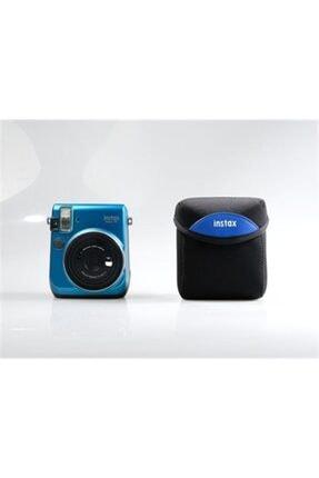 Fujifilm Mini 70 Kumaş Kılıf (siyah - Mavi) 0