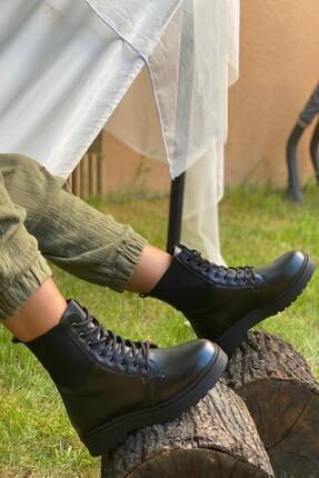 İnan Ayakkabı KADIN LASTİKLİ SİYAH  BOT&BOOTİE&POSTAL KY7000 3