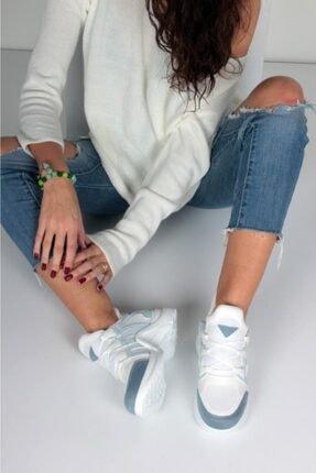 İnan Ayakkabı Kadın Mavi Spor Ayakkabı Y2020 1