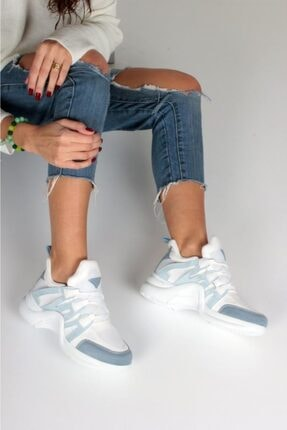İnan Ayakkabı Kadın Mavi Spor Ayakkabı Y2020 2