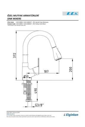 Eca Spylos Spiralli Mutfak Eviye Bataryası 102118142 20 Yıl Garantili E.c.a 1