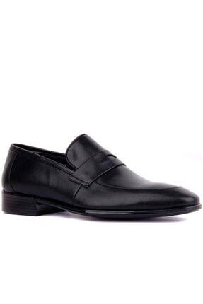 Fosco Erkek Siyah Deri  Ayakkabı 0