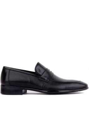 Fosco Erkek Siyah Deri  Ayakkabı 1