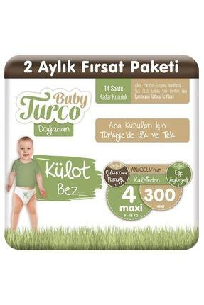 Baby Turco Doğadan Külot Bez 4 Numara Maxi 300 Adet 0