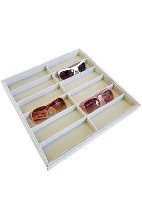Chavin Süet Gri Renk Gözlük Tablası Kutusu St1-37x 0