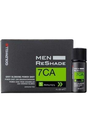GOLDWELL Men Reshade 7ca Erkeklere Özel Köpük Saç Boyası 4x20 ml 0