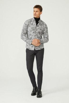 Avva Baskılı Düğmeli Yaka Slim Fit Gömlek 3