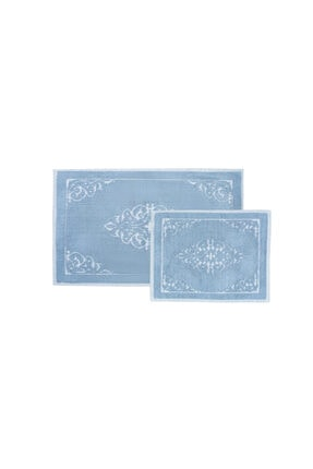 Karaca Home Milly Mavi 2li Paspas Set 0