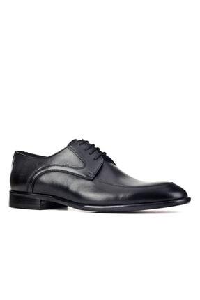 Cabani Erkek Siyah Antik Deri Klasik Ayakkabı 0