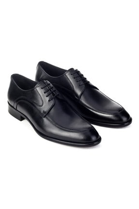 Cabani Erkek Siyah Antik Deri Klasik Ayakkabı 4