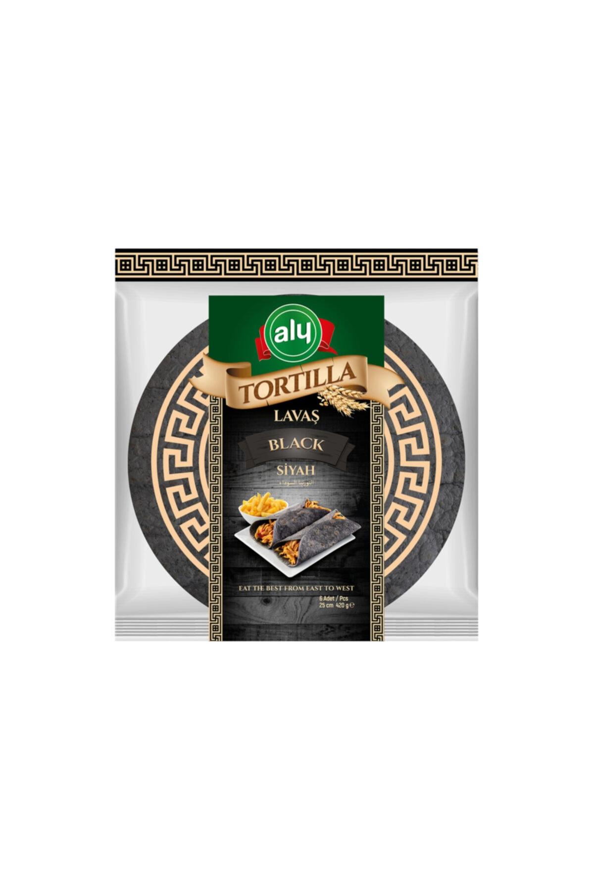 Siyah Tortilla Lavaş 25 cm 6'lı Paket 420 gr