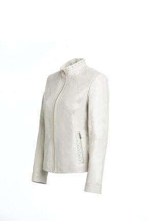 Derimod Kadın Bej Grace Deri Ceket 2
