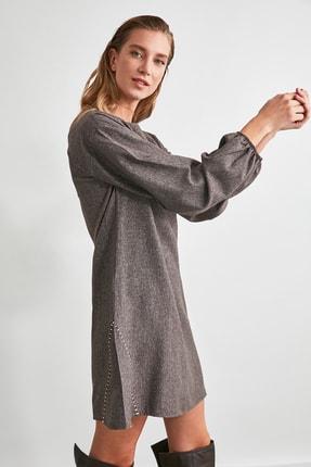 TRENDYOLMİLLA Kahverengi Basic Elbise TWOAW21EL2286 3