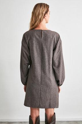 TRENDYOLMİLLA Kahverengi Basic Elbise TWOAW21EL2286 4