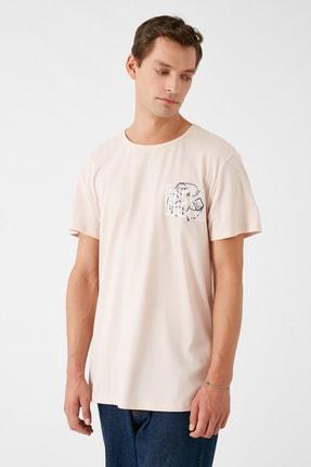 Koton Erkek Pembe T-Shirt 1KAM11165CK 2