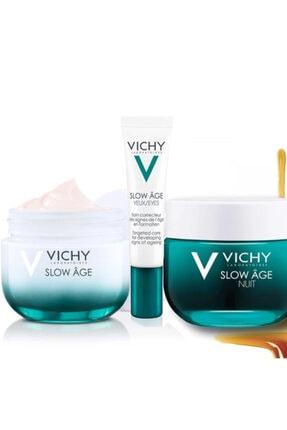 Vichy Slow Age Cilt Bakım Seti | Gece 50 Ml + Gündüz 50 Ml + Göz 15 Ml Orijinal Boy Set 0