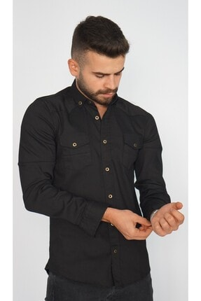Erkek Slım Fıt Gömlek 1112