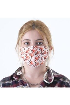 Dijimoda Renkli Batik Yıkanabilir Boyun Askılı Pamuklu Kumaş Maske 0