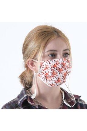 Dijimoda Renkli Batik Yıkanabilir Boyun Askılı Pamuklu Kumaş Maske 1