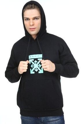 Millionaire Erkek Siyah Oversize Off Baskılı Sweatshirt 2